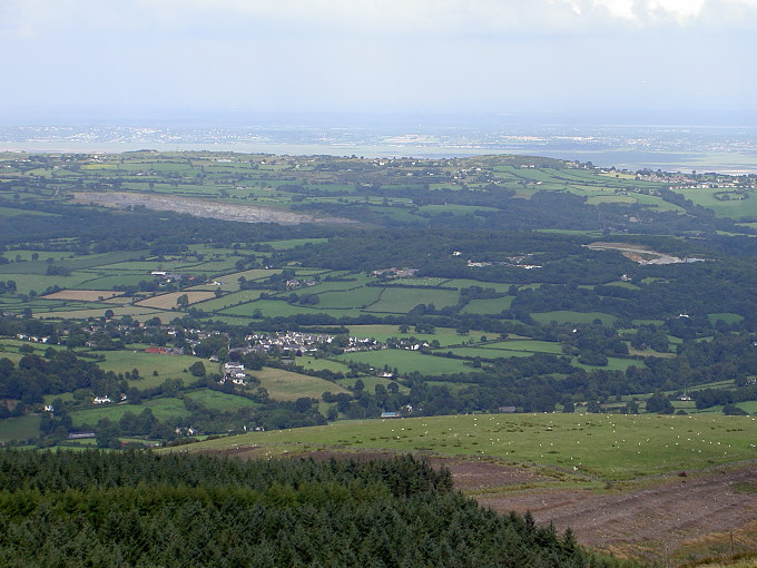 Moel Fammau: View NE towards Wirral and Liverpool