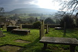 Pendle Hill from the churchyard