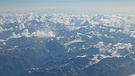 Alps. Matterhorn and Monte Rosa on the right